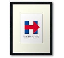 Hillary Clinton Emails Framed Print