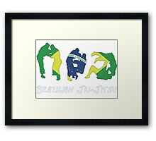 Brazilian Jiu-Jitsu Martial Arts Framed Print