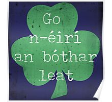Irish Good Luck phrase Poster