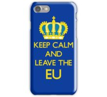 Leave EU Funny Anti European Union Protest iPhone Case/Skin