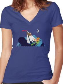 The Owl And The Pussycat Were Unprepared Women's Fitted V-Neck T-Shirt