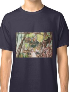 On the Outer ~ Tree Trunk Extracts (flat detail section 2) Classic T-Shirt