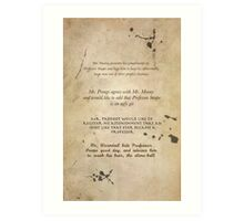 Moony Wormtail Padfoot and Prongs Art Print