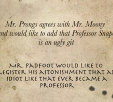 Moony Wormtail Padfoot and Prongs Sticker