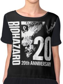 Resident Evil - 20th Anniversary Japanese With Anniversary Text Chiffon Top