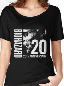 Resident Evil - 20th Anniversary Japanese With Anniversary Text Women's Relaxed Fit T-Shirt