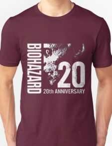 Resident Evil - 20th Anniversary Japanese With Anniversary Text Unisex T-Shirt