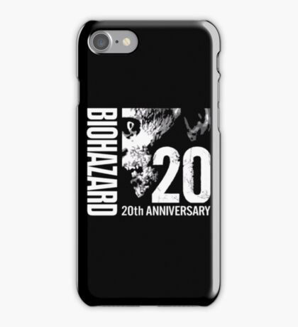 Resident Evil - 20th Anniversary Japanese With Anniversary Text iPhone Case/Skin