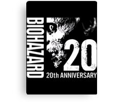 Resident Evil - 20th Anniversary Japanese With Anniversary Text Canvas Print