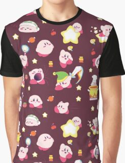 Pink Puff Pattern (red version) Graphic T-Shirt
