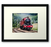Hogwarts Castle in steam Framed Print