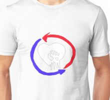 Rise Against Heart Fist Clean Look (Blood Red, White and Blue) Unisex T-Shirt