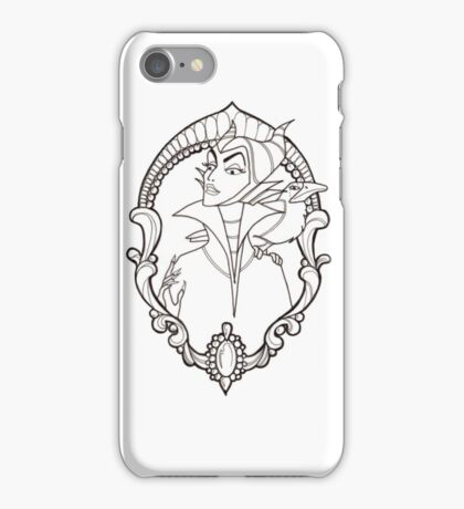 Maleficent Flash Black and White iPhone Case/Skin