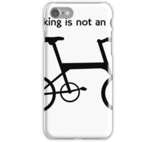 Cyclists T Shirt iPhone Case/Skin