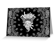 CROOKS BANDANA CREST #2 Greeting Card
