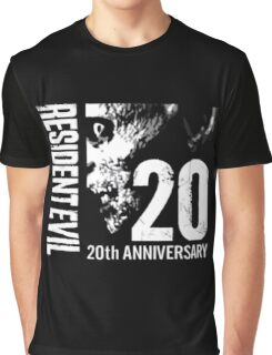 Resident Evil - 20th Anniversary With Anniversary Text Graphic T-Shirt