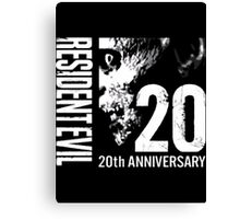 Resident Evil - 20th Anniversary With Anniversary Text Canvas Print