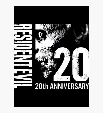 Resident Evil - 20th Anniversary With Anniversary Text Photographic Print
