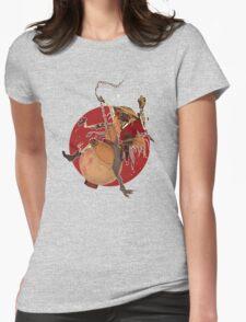 Mysterious Drunken Samurai Womens Fitted T-Shirt