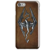 Skyrim Worn Leather Symbol iPhone Case/Skin
