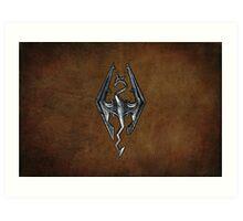 Skyrim Worn Leather Symbol Art Print