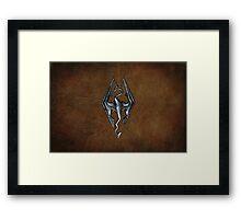 Skyrim Worn Leather Symbol Framed Print