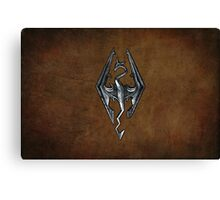 Skyrim Worn Leather Symbol Canvas Print