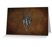Skyrim Worn Leather Symbol Greeting Card