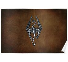 Skyrim Worn Leather Symbol Poster