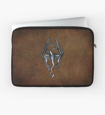 Skyrim Worn Leather Symbol Laptop Sleeve