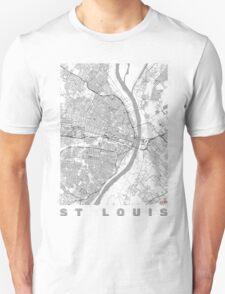 St Louis Map Line Unisex T-Shirt