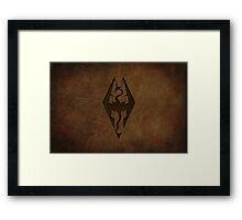 Skyrim Worn Leather Emboss Framed Print