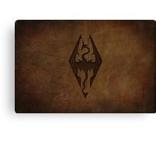 Skyrim Worn Leather Emboss Canvas Print