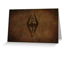 Skyrim Worn Leather Emboss Greeting Card