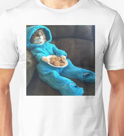 cookiemonster cat Unisex T-Shirt