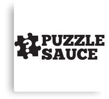 Puzzle Sauce Canvas Print