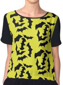 Bat Swarm Chiffon Top