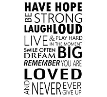 Be strong... Inspirational motivational Quotes Photographic Print