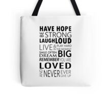 Be strong... Inspirational motivational Quotes Tote Bag