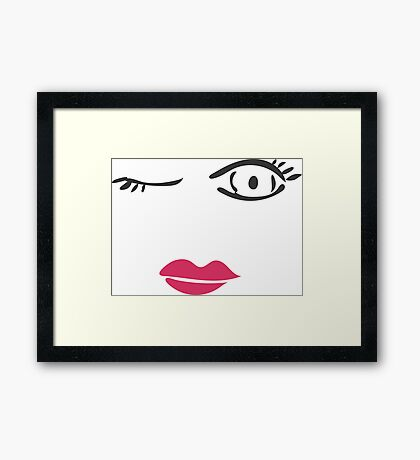 Wink and Kiss Framed Print
