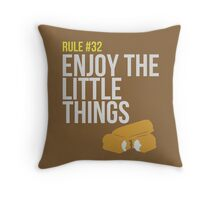 Zombie Survival Guide - Rule #32 - Enjoy the Little Things Throw Pillow