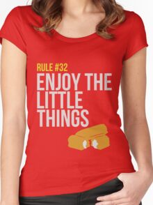 Zombie Survival Guide - Rule #32 - Enjoy the Little Things Women's Fitted Scoop T-Shirt