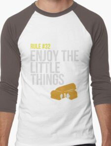 Zombie Survival Guide - Rule #32 - Enjoy the Little Things Men's Baseball ¾ T-Shirt