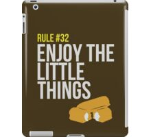 Zombie Survival Guide - Rule #32 - Enjoy the Little Things iPad Case/Skin