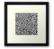 Black and White Abstraction Framed Print