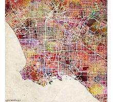 Los Angeles map Photographic Print