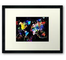 World Grunge Framed Print