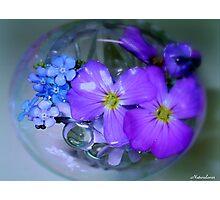 Blue Bubble! Photographic Print