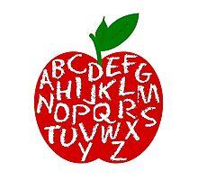 Apple Alphabet Photographic Print