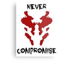 Never Compromise Rorschach Watchmen Metal Print